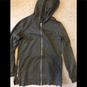 Forever 21 side zip hoodie